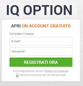 iq option apertura conto