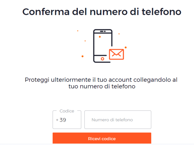 conferma telefonica conto iq option