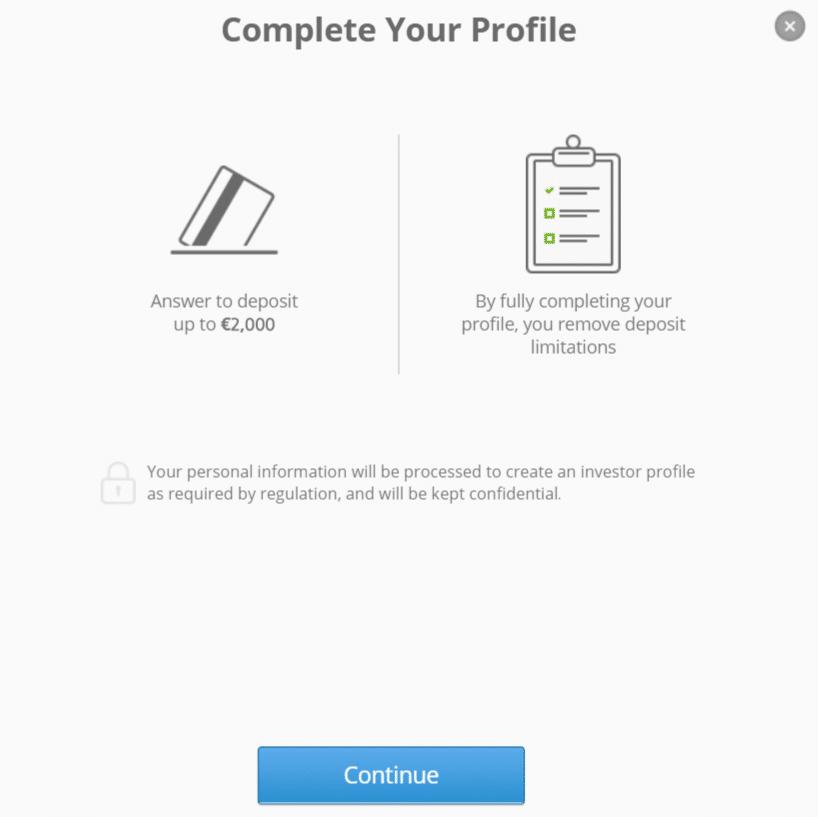 registrazione etoro confermare account