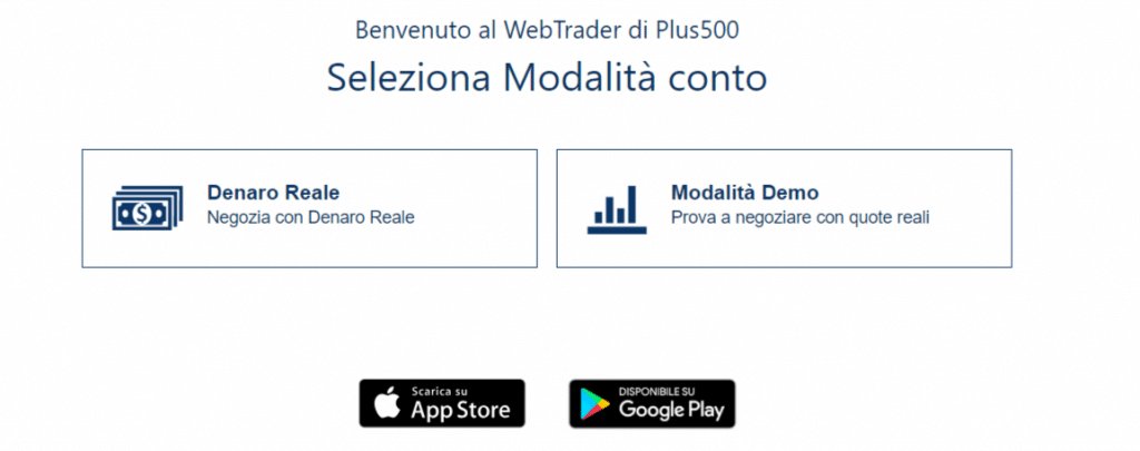 conto demo plus500 come aprirlo