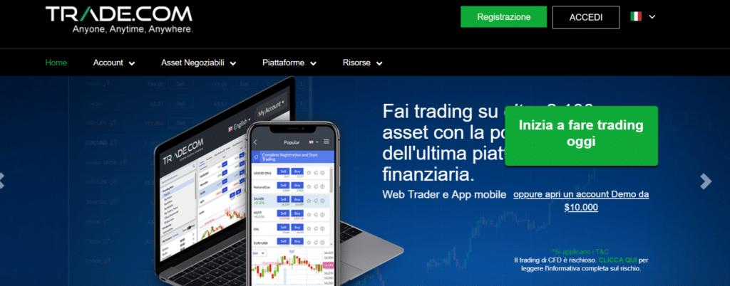 primo accesso trade.com