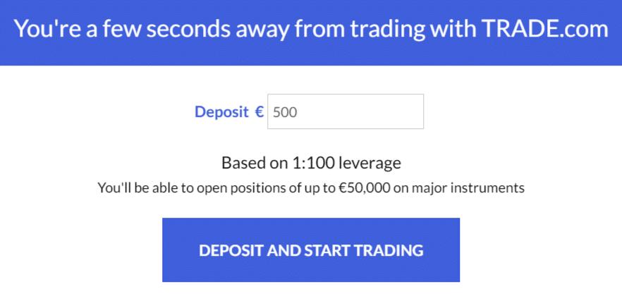 primo deposito trade.com