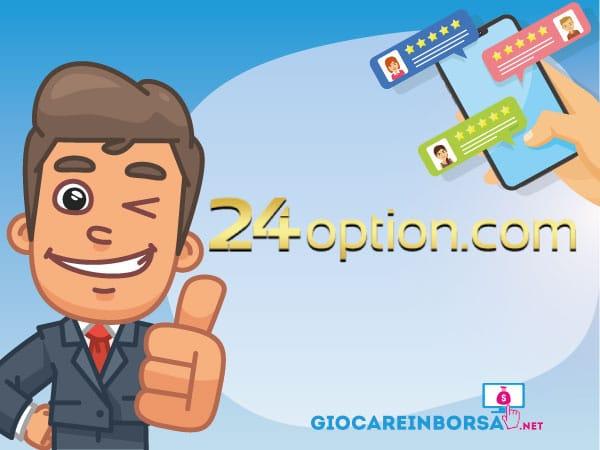 Recensione completa ed opinioni su 24option - Infografica a cura di ©GiocareinBorsa.net