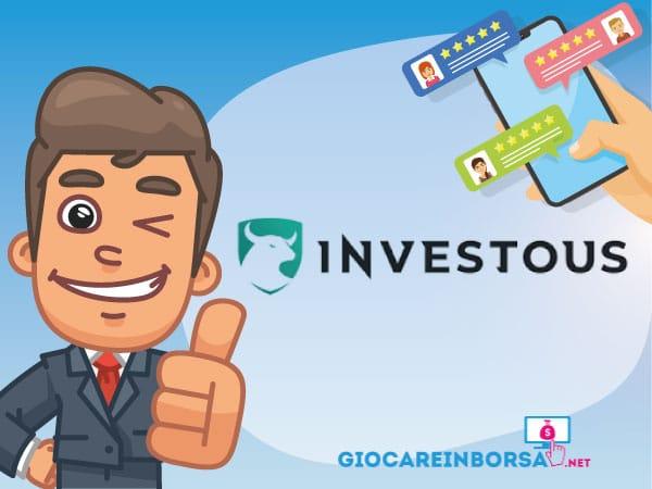 Recensione completa ed opinioni su Investous - Infografica a cura di ©GiocareinBorsa.net