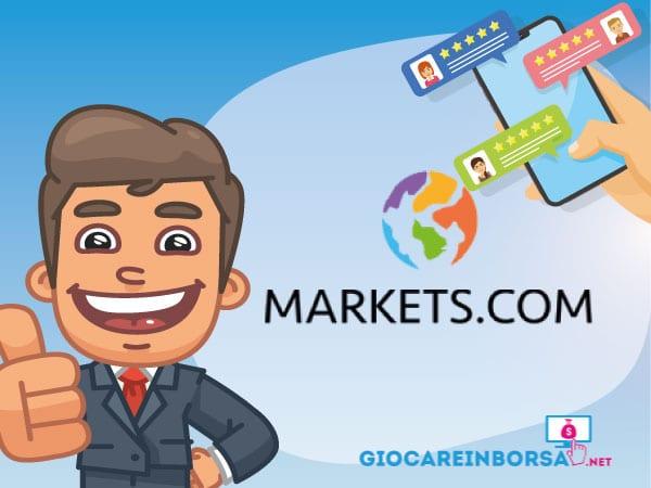 recensione completa ed opinioni su Markets.com - Infografica a cura di ©GiocareinBorsa.net