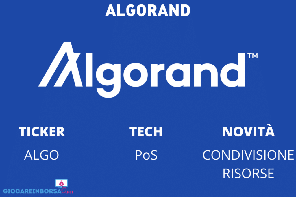 Algorand - scheda - infografica