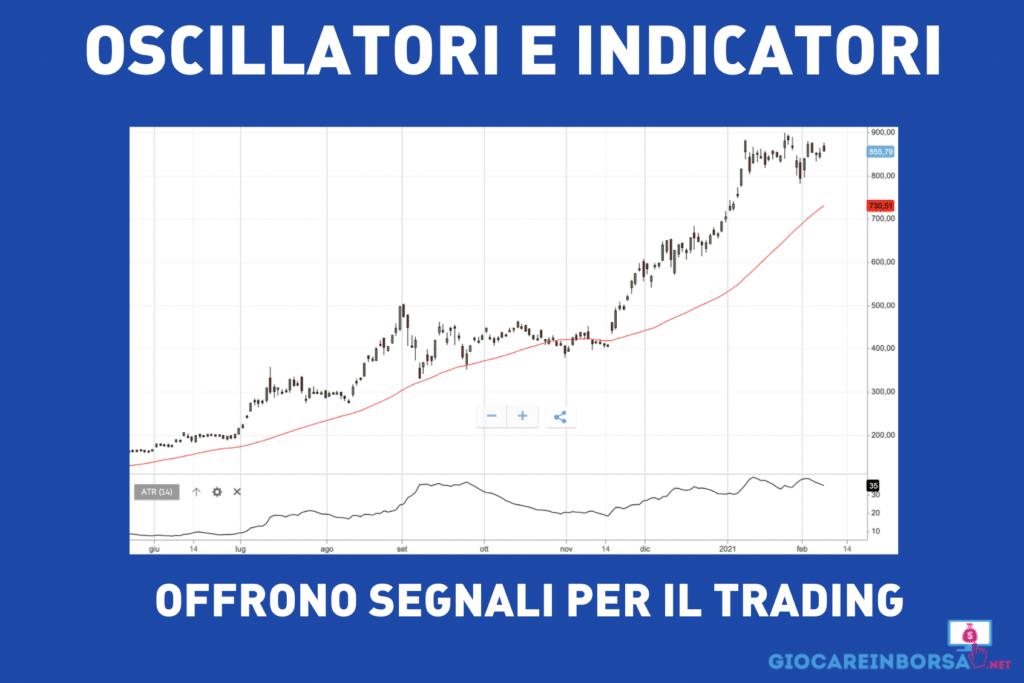 oscillatori e indicatori per il trader - infografica