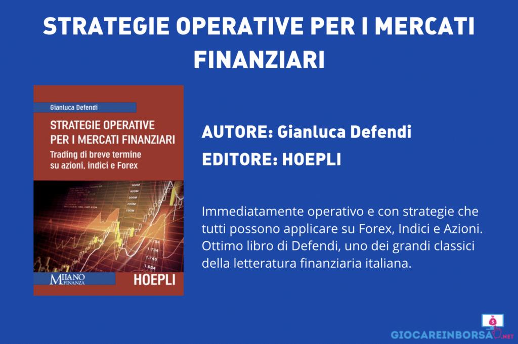 Strategie Operative per i mercati finanziari - di Gianluca Defendi - scheda