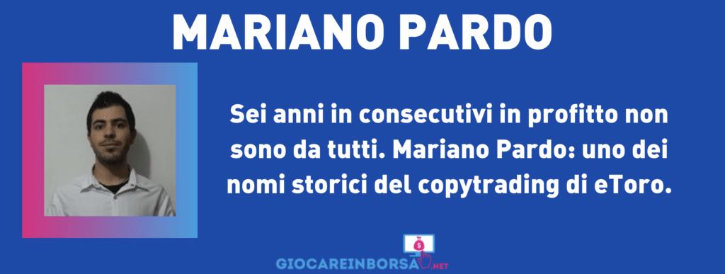 Mariano Pardo - scheda riassuntiva - a cura di GiocareInBorsa.net