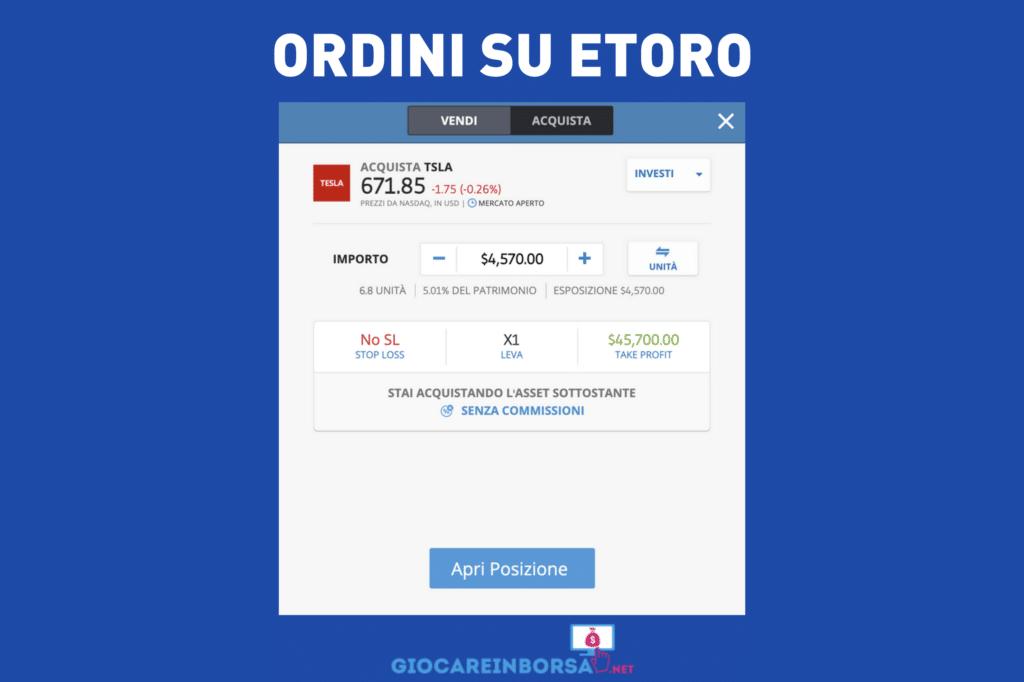 eToro Ordini - a cura di Giocareinborsa.net