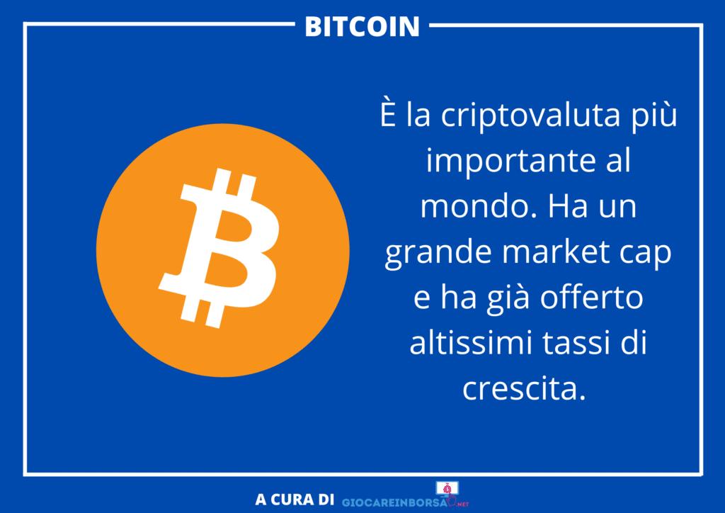 Criptovalute Bitcoin - infografica  a cura di GiocareInBorsa.net